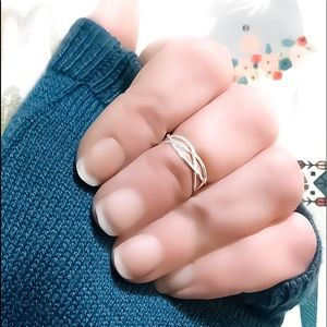 925 Sterling Silver Woven Midi Knuckle Toe Ring